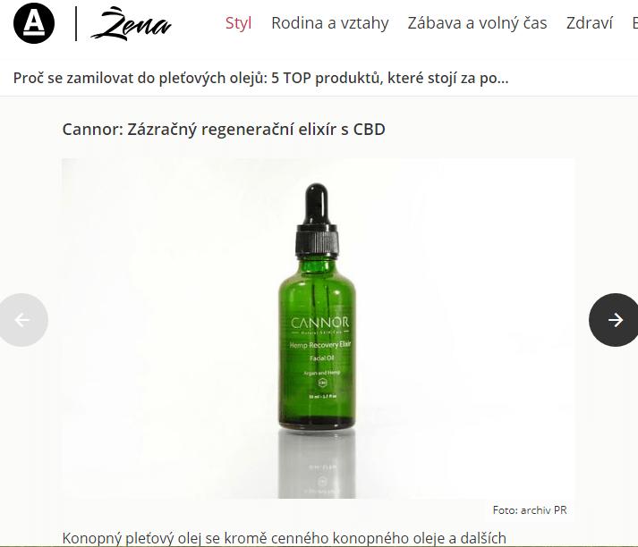 cannor.cz kosmetika , CBD zena.aktualne.cz