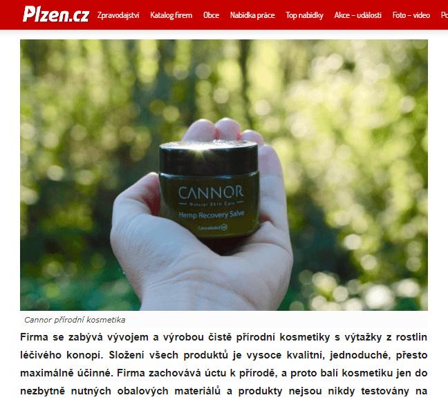 plzen.cz cannor.cz , konopna kosmetika , prirodni kosmetika,