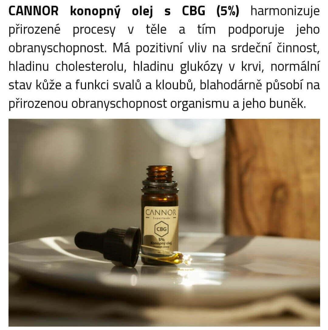 CANNOR CBG olej 5%, 500mg