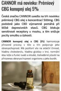 CANNOR CBG olej 5% 500mg